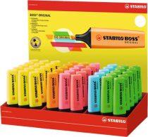 """STABILO Szövegkiemelő display, 2-5 mm, STABILO """"BOSS"""", vegyes színek"""