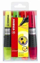 """STABILO Szövegkiemelő készlet, 2-5 mm, STABILO """"Luminator"""", 4 különböző szín"""