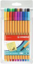 """STABILO Tűfilc készlet, 0,4 mm, STABILO """"Point 88 Big Point"""", 20 különböző szín"""