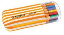"""STABILO Tűfilc készlet, 0,4 mm, STABILO """"Point 88 Zebrui"""", 20 különböző szín"""