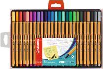 """STABILO Tűfilc készlet, 0,4 mm, STABILO """"Point 88"""", 25 különböző szín"""
