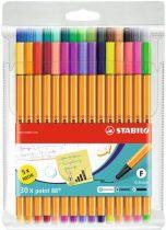 """STABILO Tűfilc készlet, 0,4 mm, STABILO """"Point 88"""", 25+5 különböző szín"""