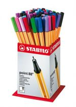 "STABILO Tűfilc display, 0,4 mm, STABILO ""Point 88 Mini"", vegyes színek"