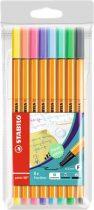 """STABILO Tűfilc készlet, 0,4 mm, STABILO """"Point 88"""", 8 pasztell szín"""