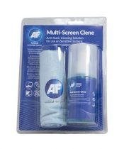 """AF Tisztítófolyadék, képernyőhöz, mikroszálas nagy kendővel, pumpás, 200 ml, AF """"Multi screen-clene"""""""