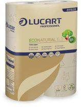 "LUCART Toalettpapír, 3 rétegű, kistekercses, 27,5 m, LUCART ""EcoNatural 6.3"" barna"