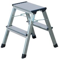 """KRAUSE Fellépő, gurítható lépcsőfokos, 2x2 lépcsőfok, alumínium KRAUSE """"Rolly"""""""