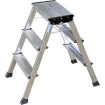 """KRAUSE Fellépő, gurítható lépcsőfokos, 2x3 lépcsőfok, alumínium KRAUSE """"Rolly"""""""