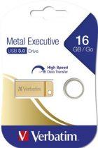 """VERBATIM Pendrive, 16GB, USB 3.0,  VERBATIM """"Executive Metal"""" arany"""
