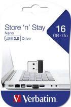 "VERBATIM Pendrive, 16GB, USB 2.0, 10/3MB/sec, VERBATIM ""Nano"""