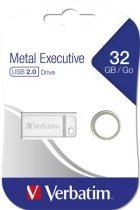 """VERBATIM Pendrive, 32GB, USB 2.0,  VERBATIM """"Exclusive Metal"""""""