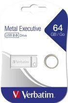 """VERBATIM Pendrive, 64GB, USB 2.0,  VERBATIM """"Executive Metal"""""""