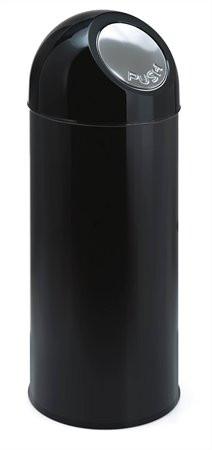 VEPA BINS Nyomófedeles szemetes, 55 l, fém, VEPA BINS, fekete