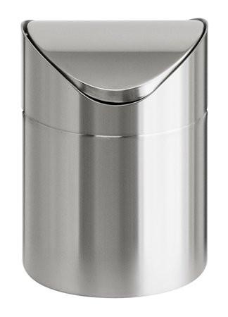 VEPA BINS Billenős szemetes, 1,5 l, rozsdamentes acél, asztali, VEPA BINS, ezüst