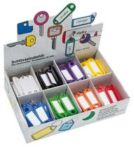 WEDO Kulcscímke display 200 db, kulcskarikával, WEDO, 8 különböző színben