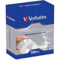 VERBATIM CD boríték, papír, ablakos, öntapadó füllel, VERBATIM, fehér