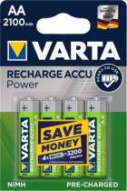 """VARTA Tölthető elem, AA ceruza, 4x2100 mAh, előtöltött, VARTA """"Power"""""""