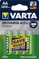 """VARTA Tölthető elem, AA ceruza, 4x2600 mAh, előtöltött, VARTA """"Power"""""""