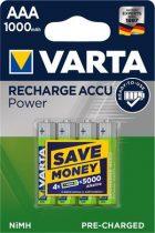 """VARTA Tölthető elem, AAA mikro, 4x1000 mAh, előtöltött, VARTA """"Power"""""""