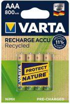 VARTA Tölthető elem, AAA mikro, újrahasznosított, 4x800 mAh, VARTA