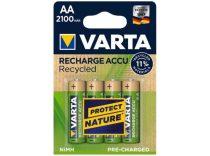 VARTA Tölthető elem, AA, ceruza, újrahasznosított, 4x2100 mAh, VARTA