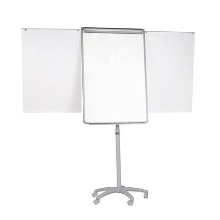VICTORIA Flipchart tábla, mágneses felület, 70x100 cm, 2 db segédkarral, mobil, VICTORIA