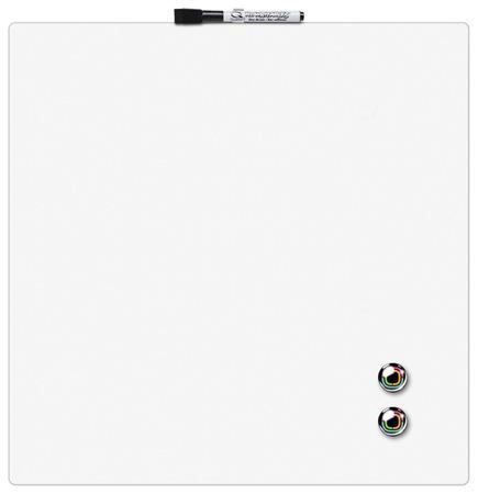 REXEL Üzenőtábla, mágneses, írható, fehér, 36x36 cm, REXEL