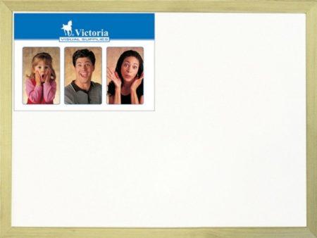 VICTORIA Fehértábla, nem mágneses, 30x40 cm, fa keret, VICTORIA